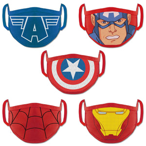 Marvel Avengers Boys Face Mask Anti Pollution Dust Protective Face Mask For Kids Multicolor (Pack Of 5)