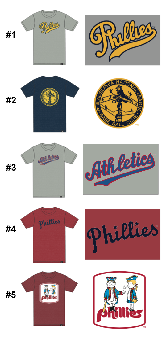 HELP US CHOOSE NEW PHILADELPHIA PHILLIES AND ATHLETICS BASEBALL DESIGNS FOR 2018