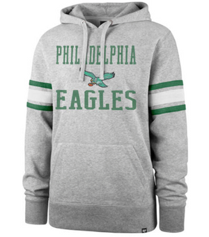 Eagles Double Block Sleeve Striped Hoodie