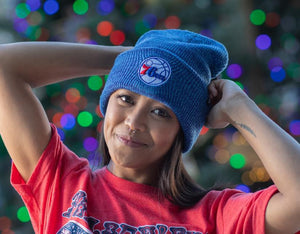 Philadelphia 76ers Brain Freeze Blue Knit hat