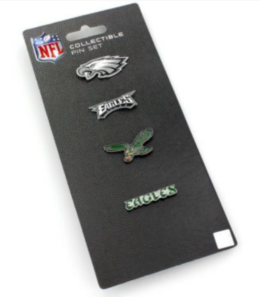 Eagles Logo Evolution Pin Set