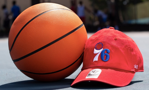 Philadelphia 76ers Red Clean Up Logo Hat