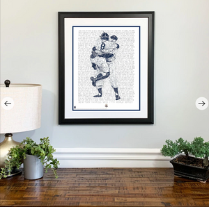 Yankees Road to the 1956 World Series Print by Philly Word Art