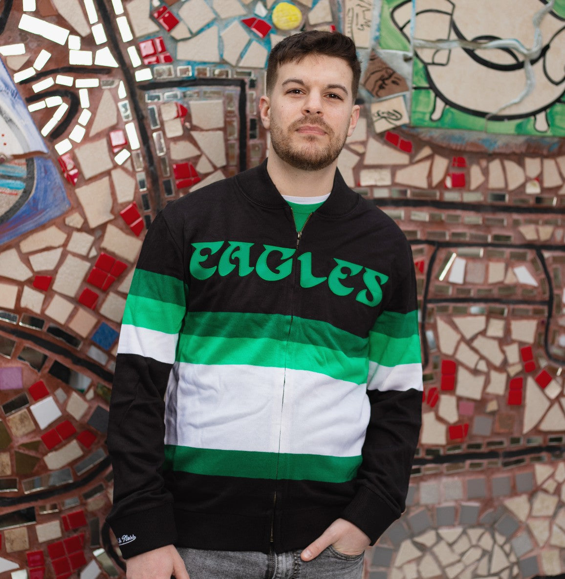 Philadelphia Eagles Front Stripe Sweater Knit