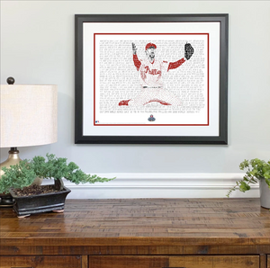 Phillies Road to the 2008 World Series Print by Philly Word Art