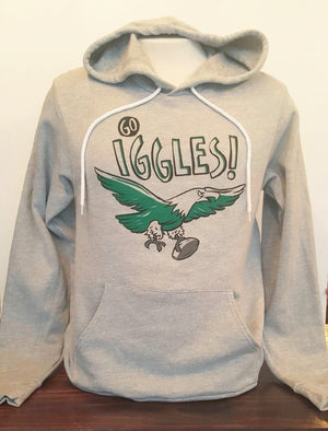 Go Iggles! Grey Hooded Sweatshirt