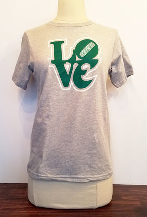 Love Women's Football tee