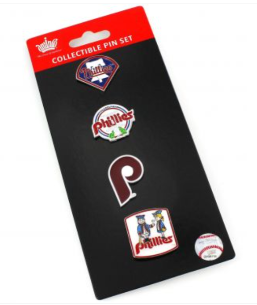 Philadelphia Phillies Evolution Pin Collection