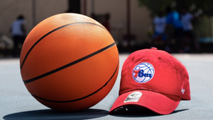 Philadelphia 76ers Red Clean Up adjustable hat