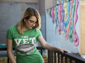 Veterans Stadium T-Shirt - Kelly Green - Women's