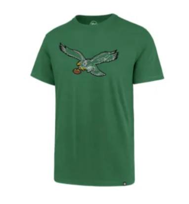 Philadelphia Eagles Legacy Throwback Imprint Super Rival Men's kelly green tee