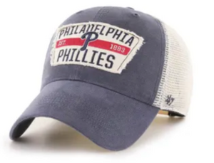 Philadelphia Phillies Vintage Navy Crawford clean up