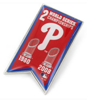 Phillies Championship Banner Pin