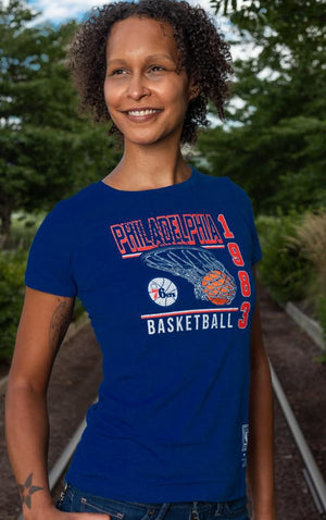 Philadelphia 76ers Baskets SS Crew Women's t-shirt