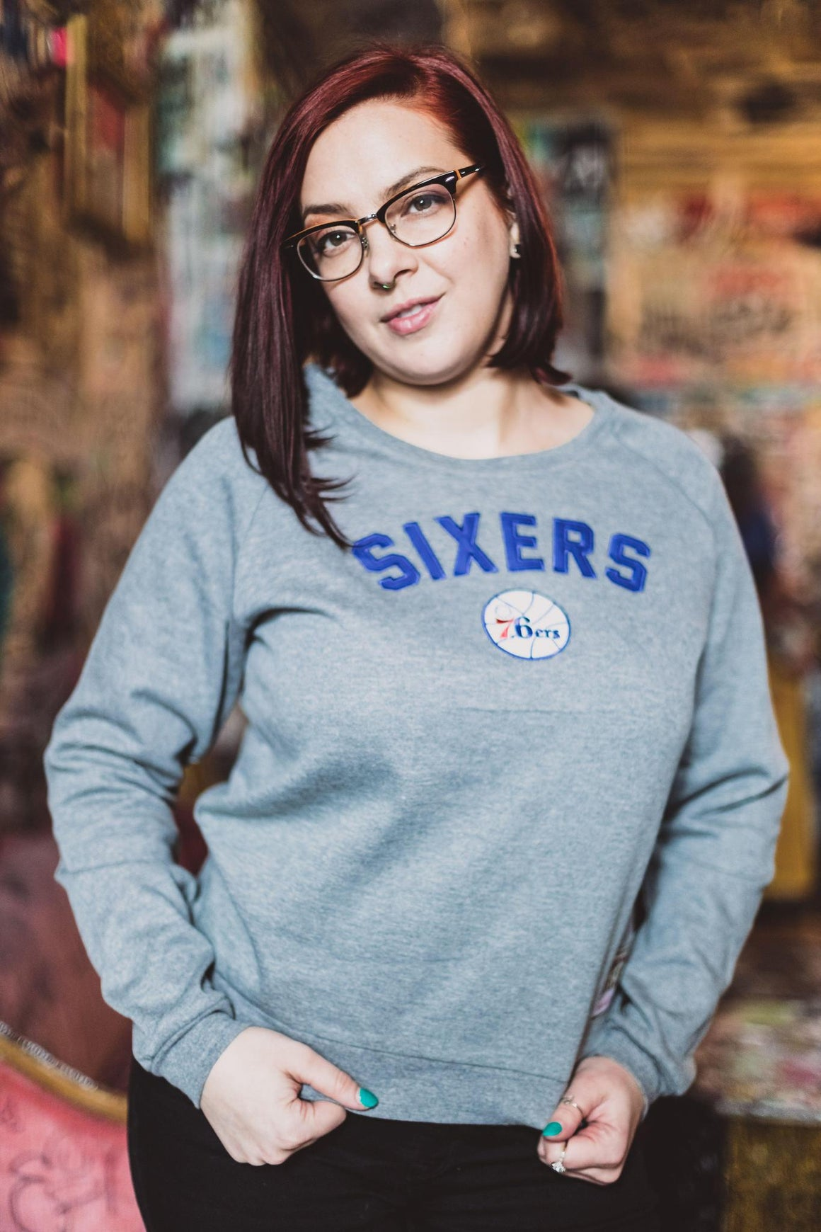 Philadelphia 76ers Women's Focus Fleece Crew