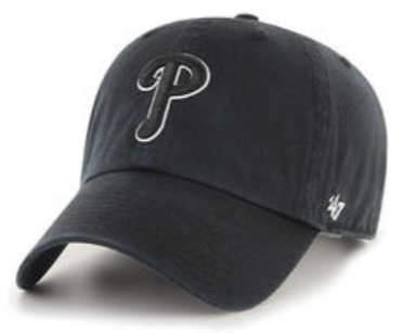 "Philadelphia Phillies Black ""Clean Up"" Adjustable"