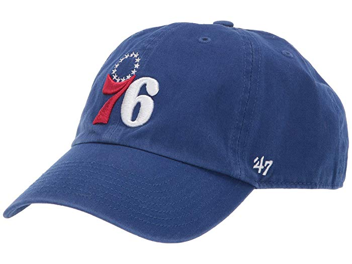 Philadelphia 76ers Blue Clean Up Hat