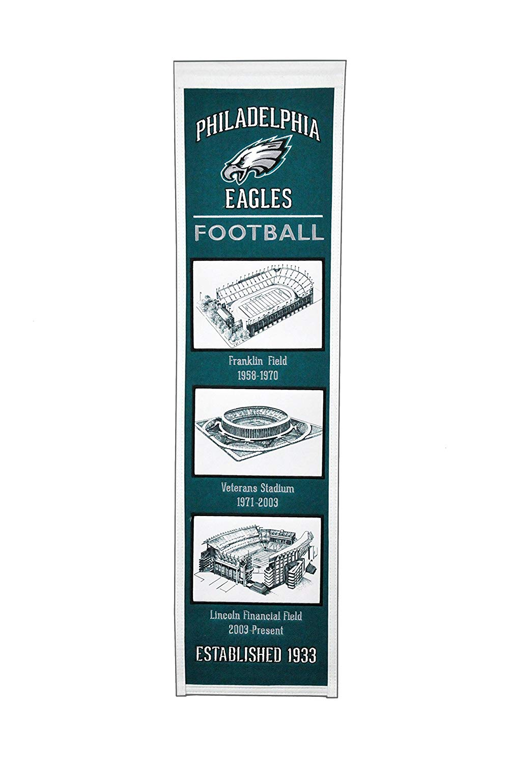 Philadelphia Eagles Stadium Evolution Heritage Banner