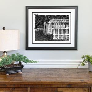 Veterans Stadium and Spectrum Print by Philly Word Art