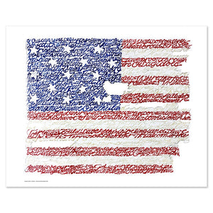 American Flag National Anthem Print by Philly Word Art