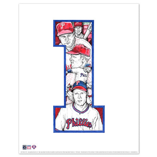 Phillies Richie Ashburn Print by Philly Word Art