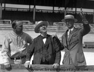 Ty Cobb, Thomas Edison, and Connie Mack, ca. 1927