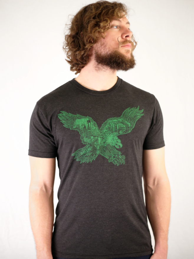 Philadelphia Eagle The Bird Black T-shirt