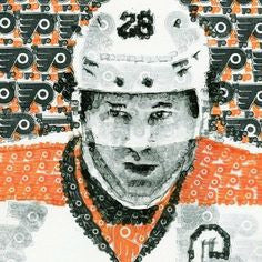 Philadelphia Flyers Claude Giroux Stamp Portrait by Philly Word Art