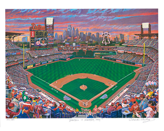 Citizens Bank Park Print by Charles Cushing