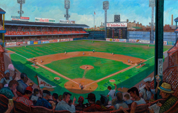 Connie Mack Stadium Print by Charles Cushing