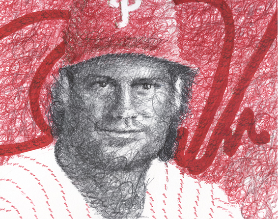 Darren Daulton Signature Print by Philly Word Art