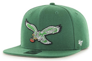 Philadelphia Eagles Green Super Shot Captain Strapback hat