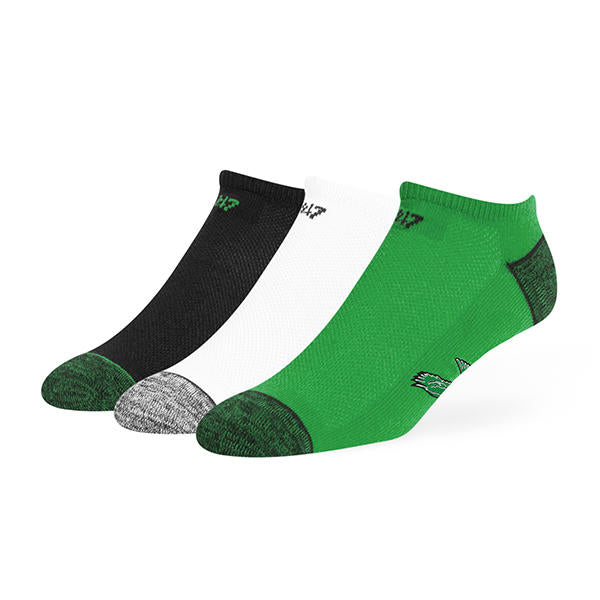 Philadelphia Eagles Vintage Blade Motion No Show Ankle Socks 3 Pack