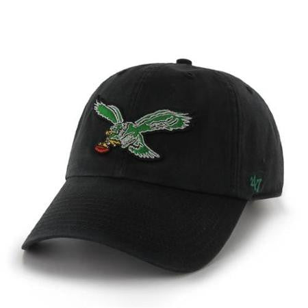 Philadelphia Eagles Vintage Logo Black Clean Up Hat