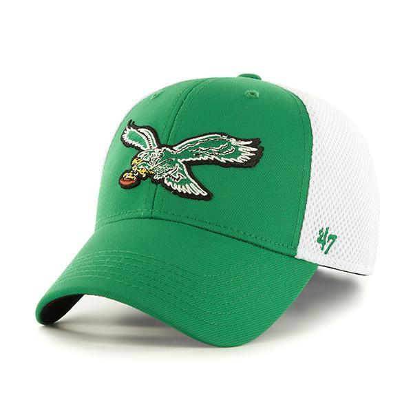 Philadelphia Eagles Back Pedal Contender Trucker Hat with Vintage Logo