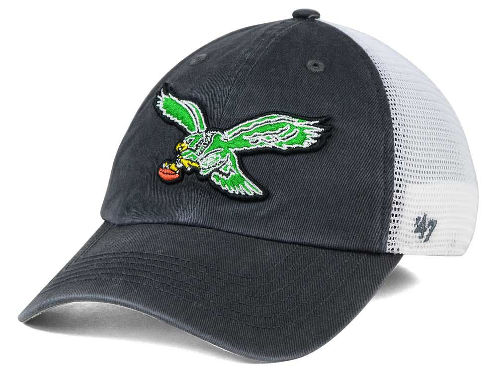 Philadelphia Eagles Blue Hill Closer Trucker Hat with Vintage Logo