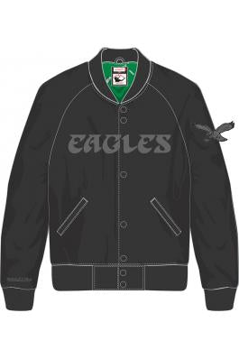 872ffb4073b Philadelphia Eagles Tough Season Black Satin Jacket