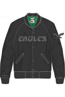Philadelphia Eagles Tough Season Black Satin Jacket