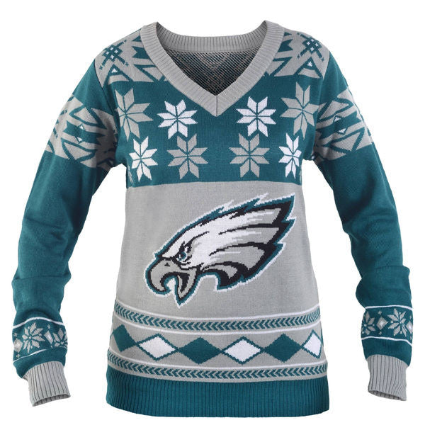 Philadelphia Eagles Women's Big Logo Ugly Sweater