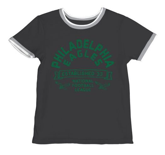 Philadelphia Eagles Boys Throwback Ringer Tee