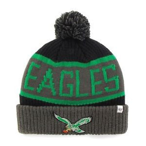 Philadelphia Eagles Calgary Black Cuff Knit Hat with Vintage Logo
