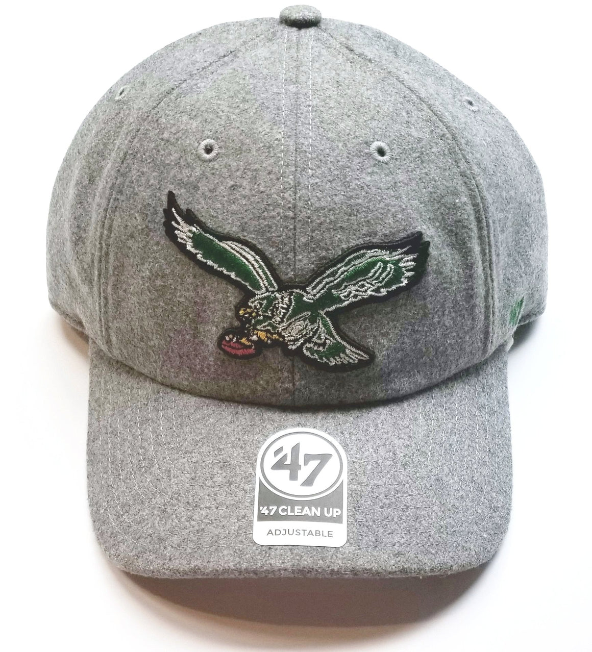 Philadelphia Eagles Grey Nimbus Clean Up Hat With Vintage Logo