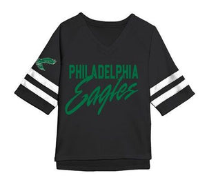 Philadelphia Eagles Women's True Black V-Neck Tee