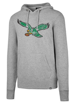 Philadelphia Eagles Retro Knockaround Headline Grey Hooded Sweatshirt