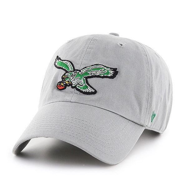 Philadelphia Eagles Grey Cleanup hat with Vintage Logo - Shibe Vintage  Sports 092e504e0