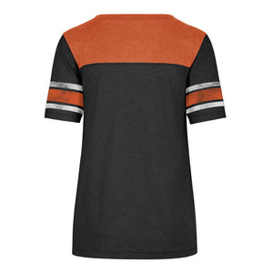 Philadelphia Flyers Women's Match Tri-Blend Sleeve Stripe Jersey T-shirt