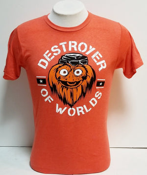 Gritty Destroyer Of Worlds Orange tee shirt