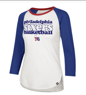 Philadelphia 76ers Hollow Stack Splitter Women's Tee