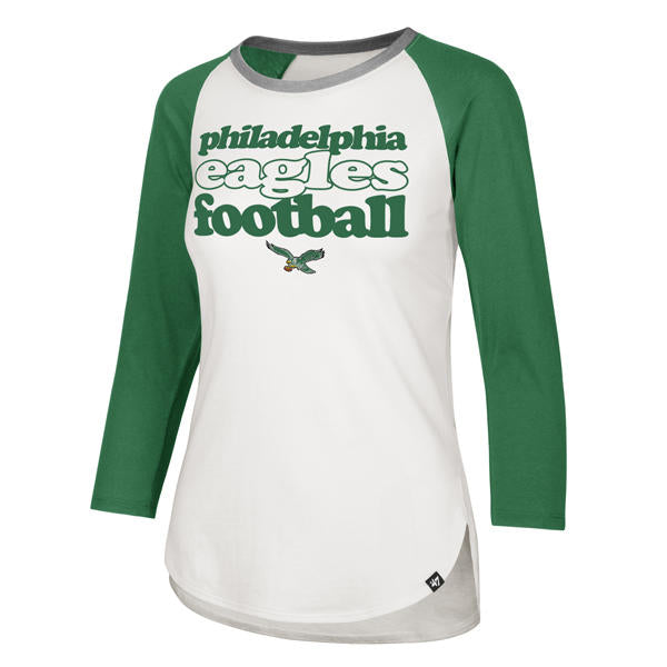 Philadelphia Eagles Hollow Stack Splitter Raglan Women's sandstone