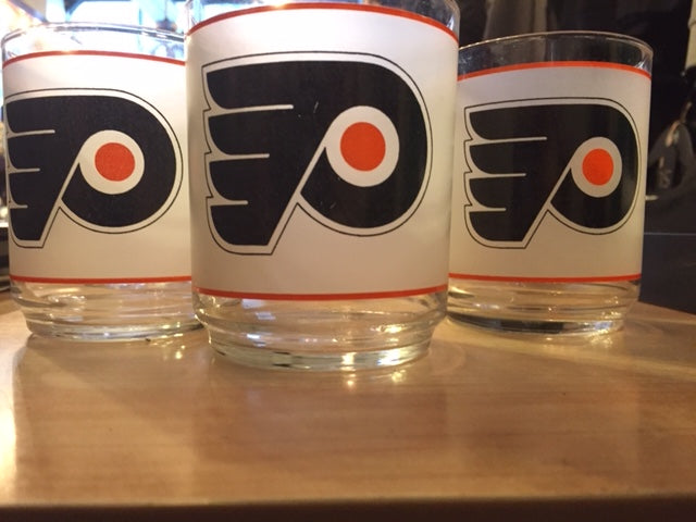 Flyers frosted cocktail glass